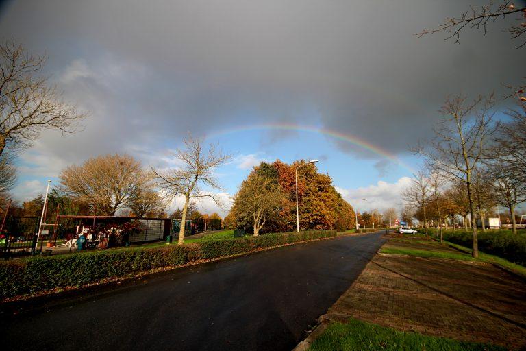 Regenboog boven Nieuwerkerk