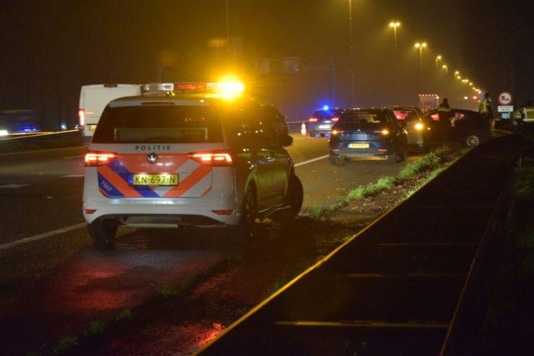 Geen gewonden na pirouette op A20 bij Nieuwerkerk