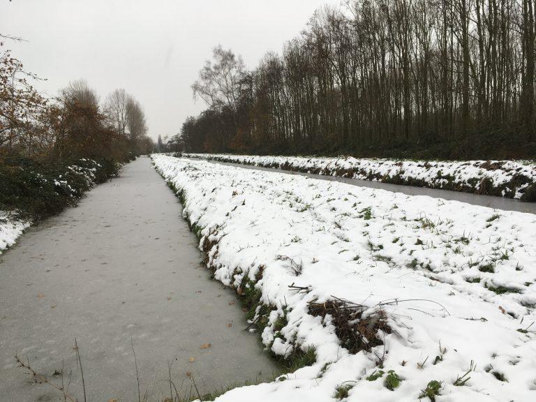 Sneeuw in Hitland