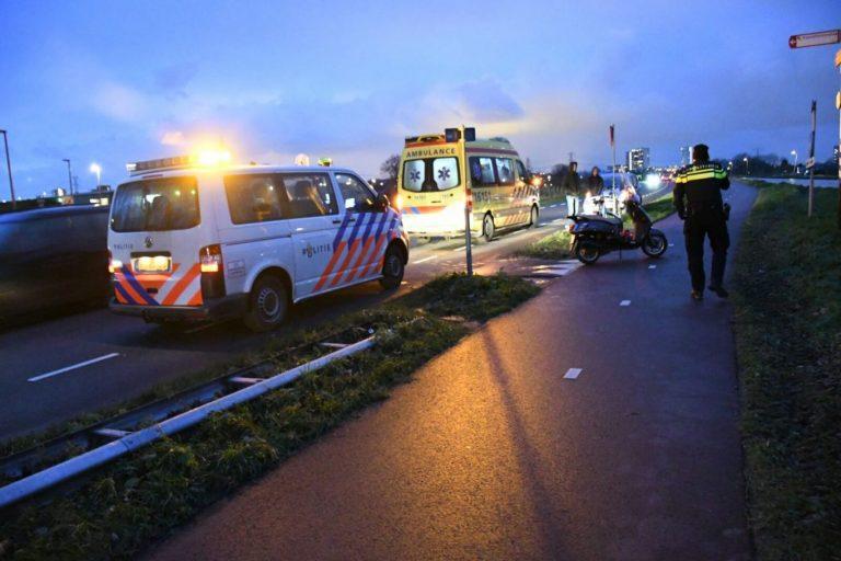 Scooterrijder gewond bij ongeval op Bostelweg