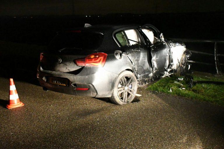 Gewonde bij flink ongeval in Eendragtspolder