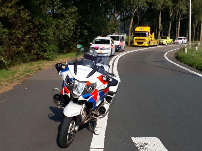 Zeer ernstig ongeval met motorrijder op afrit van A20 Nieuwerkerk