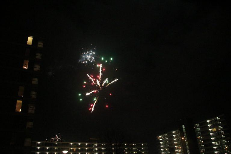 Vuurwerk in Nieuwerkerk tijdens jaarwisseling