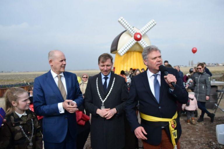 Molenroeden via Belgisch uitstapje terug als kunstwerk in Moerkapelle