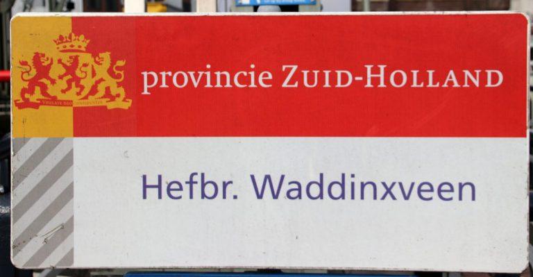 N207 bij Waddinxveen 6 weken afgesloten bij hefbrug