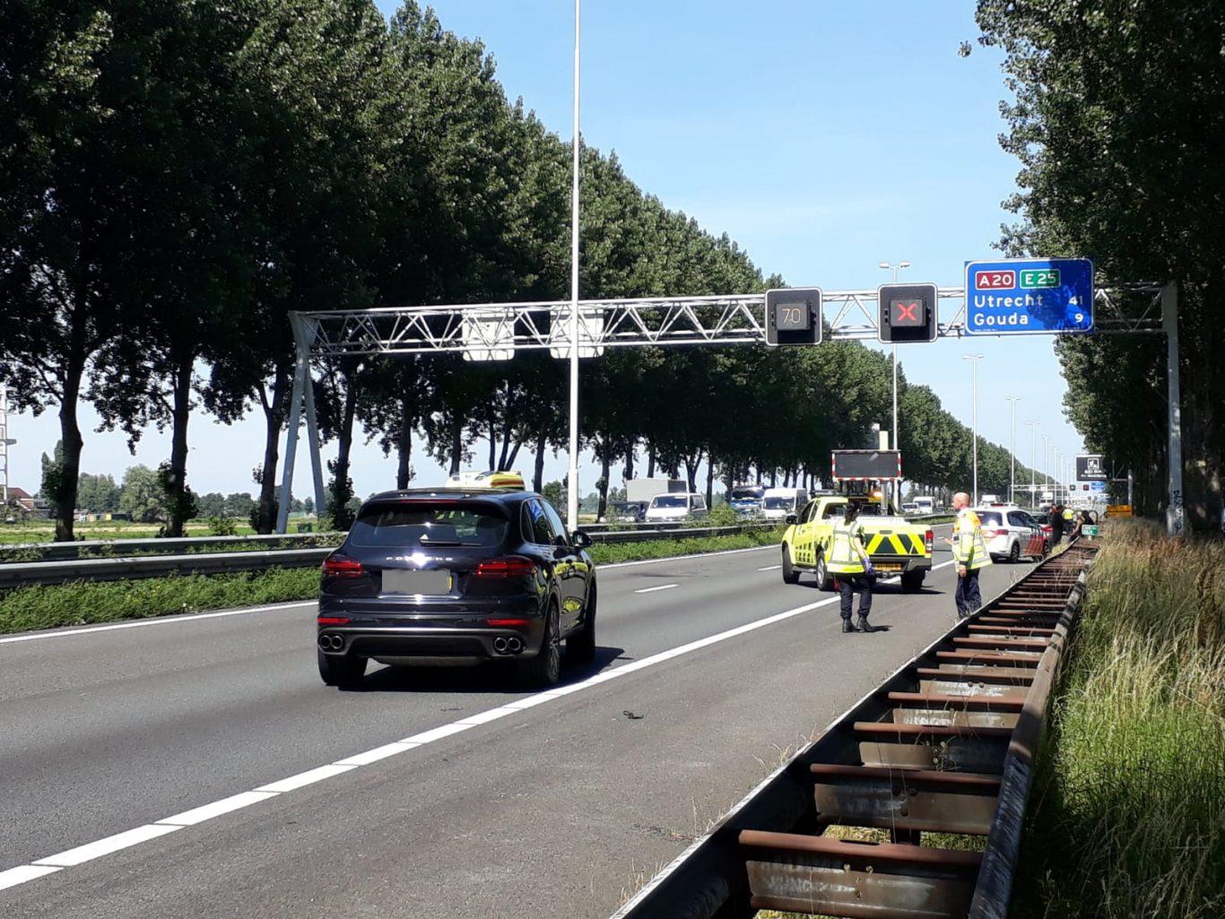 ongeval A20 Nieuwerkerk Moordrecht