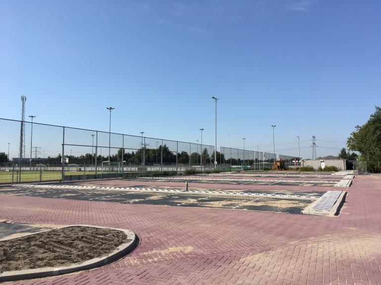 Nieuw parkeerterrein Sportpark Dorrestein