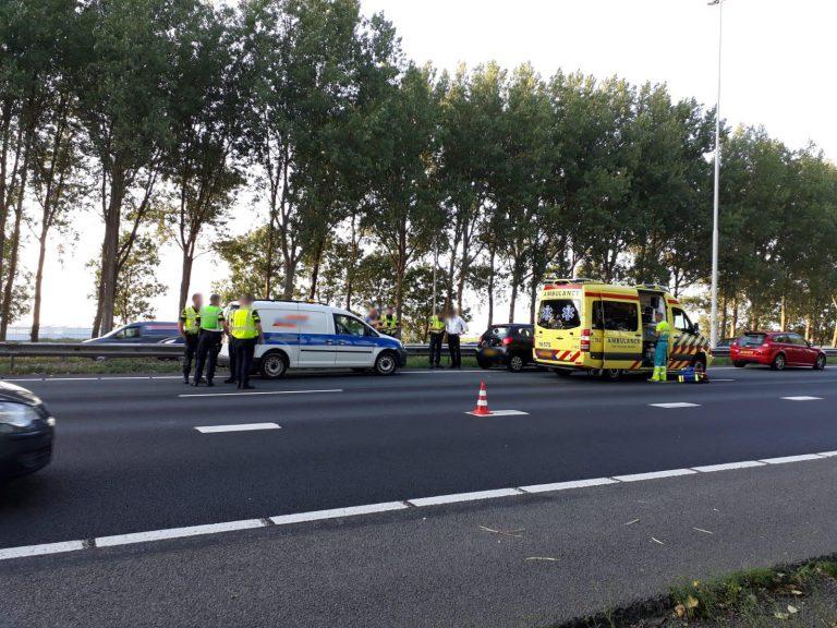 Ernstig ongeval met motorrijder op A20 bij Nieuwerkerk