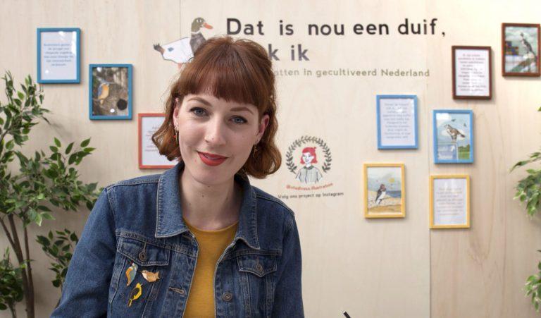 """Nieuwerkerkse Inge van Tienhoven maakt """"Dat is nou een duif, denk ik"""""""