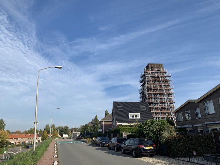 KVT toren in de steigers