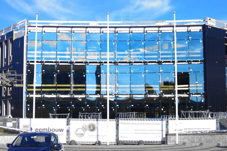 Voorkant van het nieuwe gemeentehuis