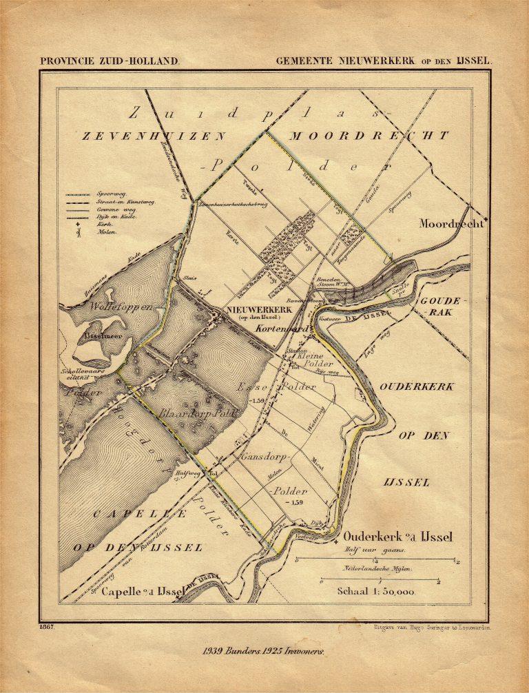 Kaart van toen de laan van Mijnlieff er nog niet was (1867)…