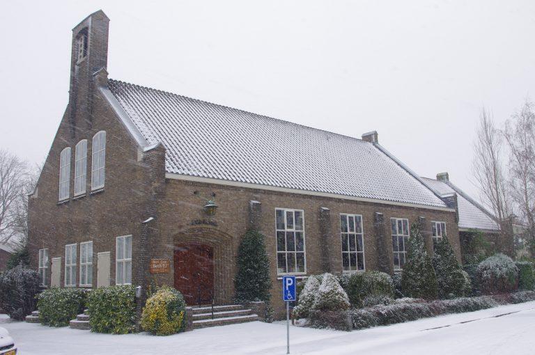 Beth-Elkerk in de sneeuw Moordrecht
