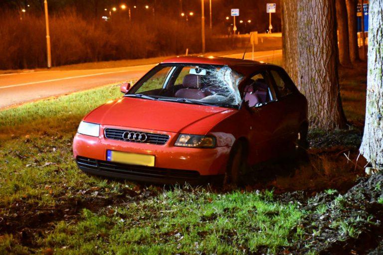 Bestuurder met slok op raakt van afrit A20 af en ramt boom bij Nieuwerkerk