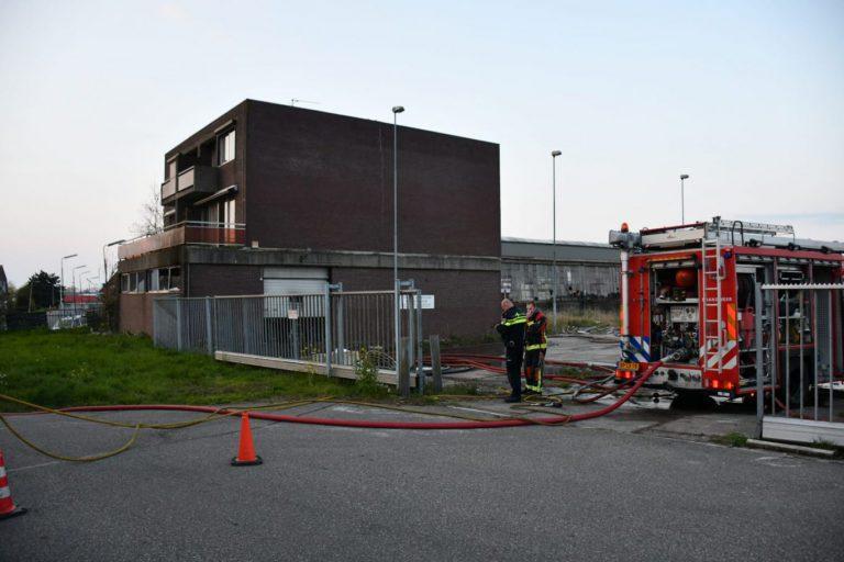 Brand in slooppand Groenendijk Nieuwerkerk