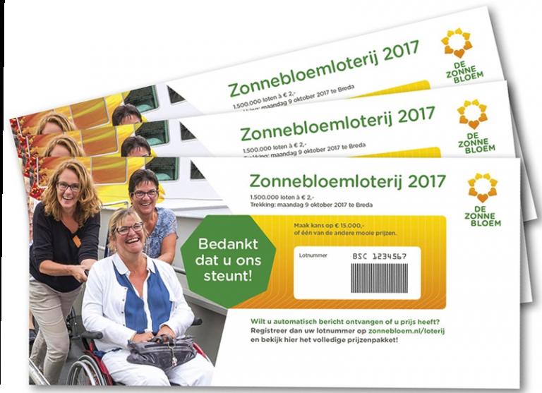 Voor de 50ste maal organiseert De Zonnebloem de Zonnebloemloterij.
