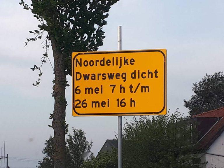 Communicatie over werkzaamheden Noordelijke Dwarsweg in Zevenhuizen is mysterieus