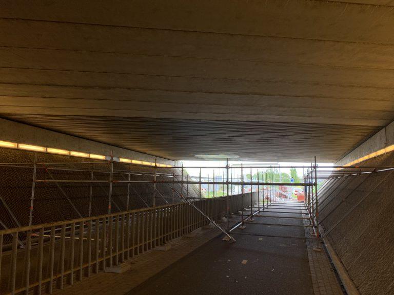 Werkzaamheden plafond A12 viaduct Noordelijke Dwarsweg