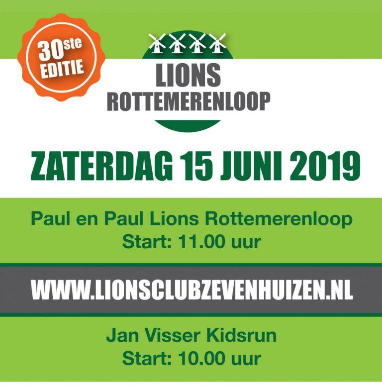 Inschrijving Paul&Paul Lions Rottemerenloop open