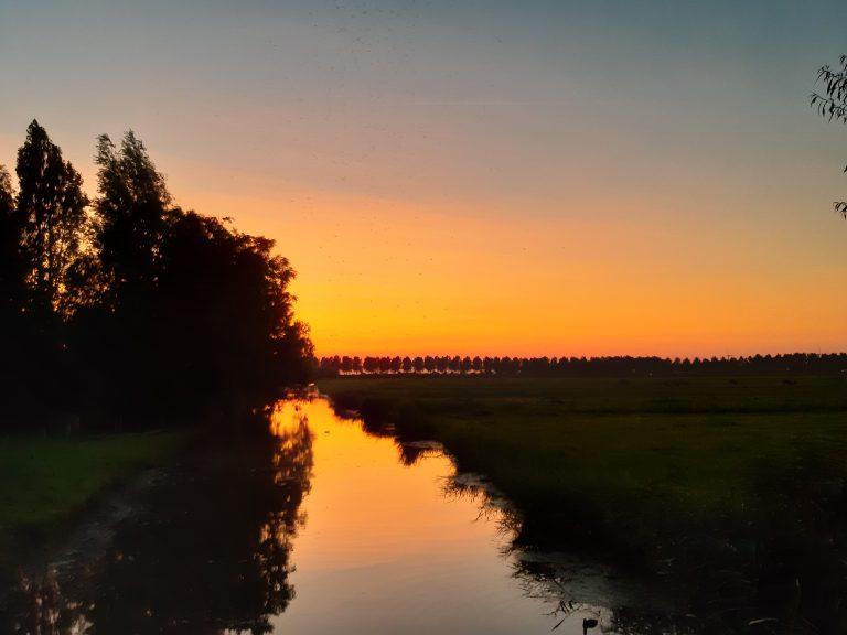 zonsondergang bij Moordrecht