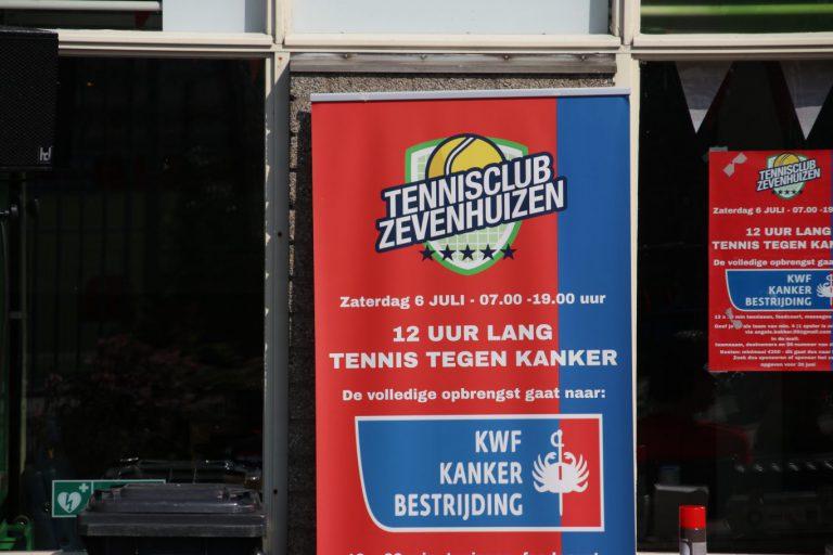 TC Zevenhuizen tennist bijna 15.000 euro bij elkaar voor het KWF