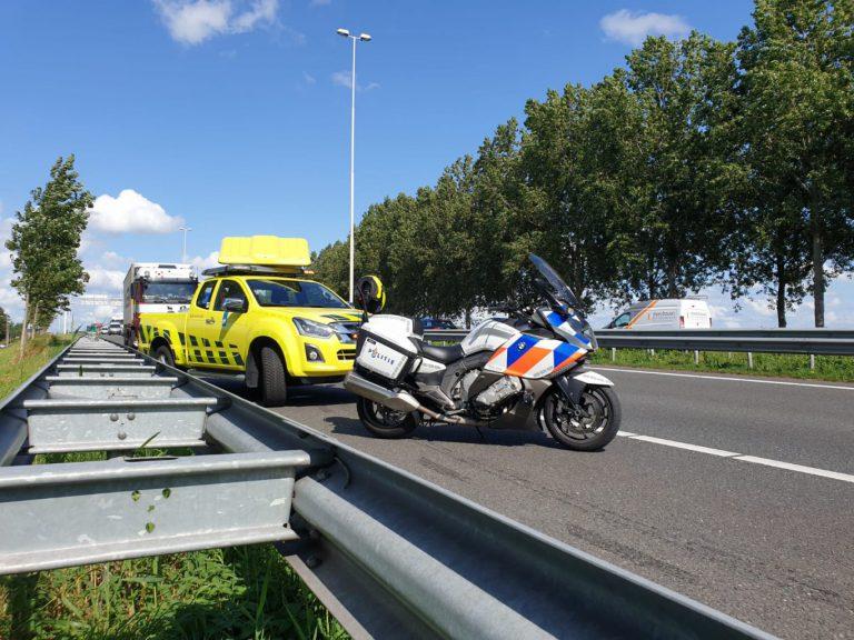 Aanrijding op A20 bij Moordrecht oorzaak grote vertraging