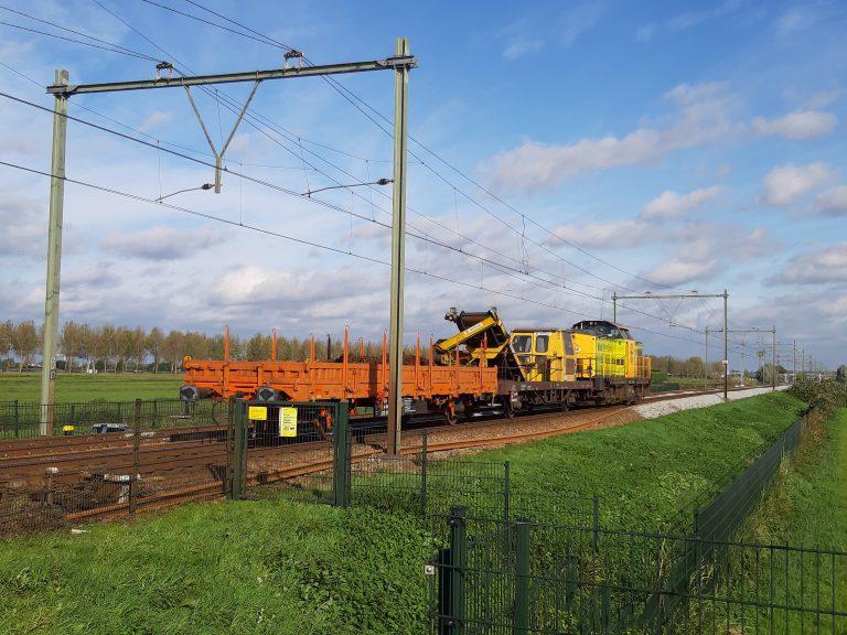 Werkzaamheden spoor Gouda – Rotterdam bij Moordrecht