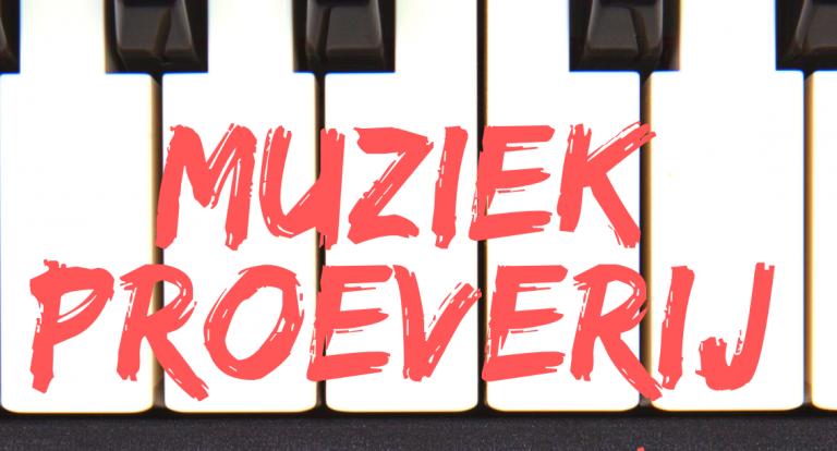 Muziekproeverij in de muziekschool van MOZ-Art