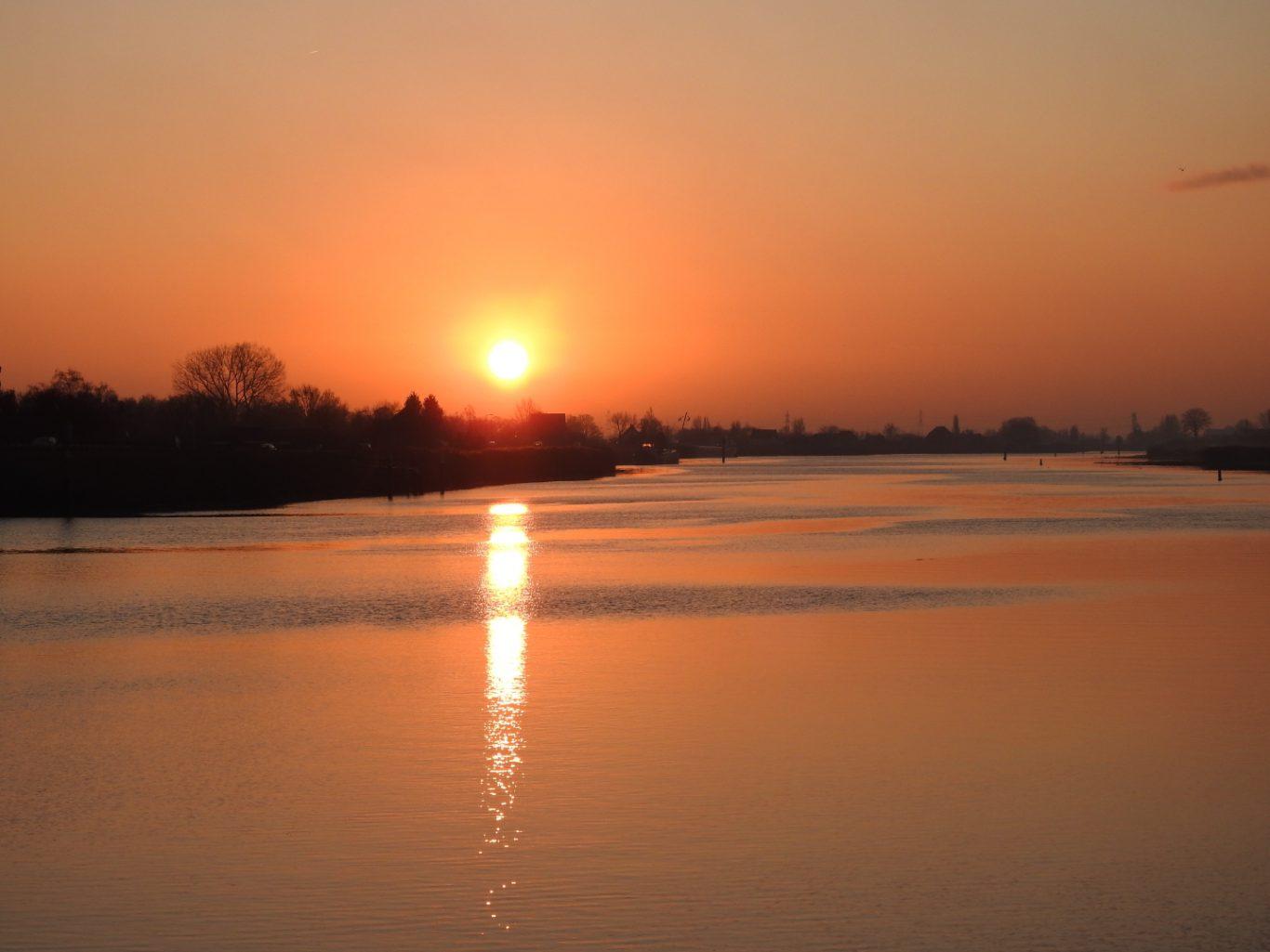 zonsopgang Hollandsche IJssel Nieuwerkerk