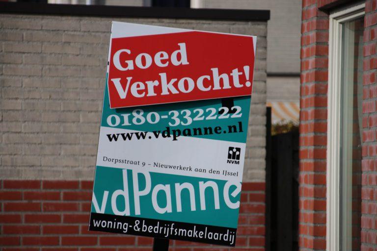 Gemiddelde verkoopprijs van woning in Zuidplas boven en in Waddinxveen lager dan het landelijk gemiddelde