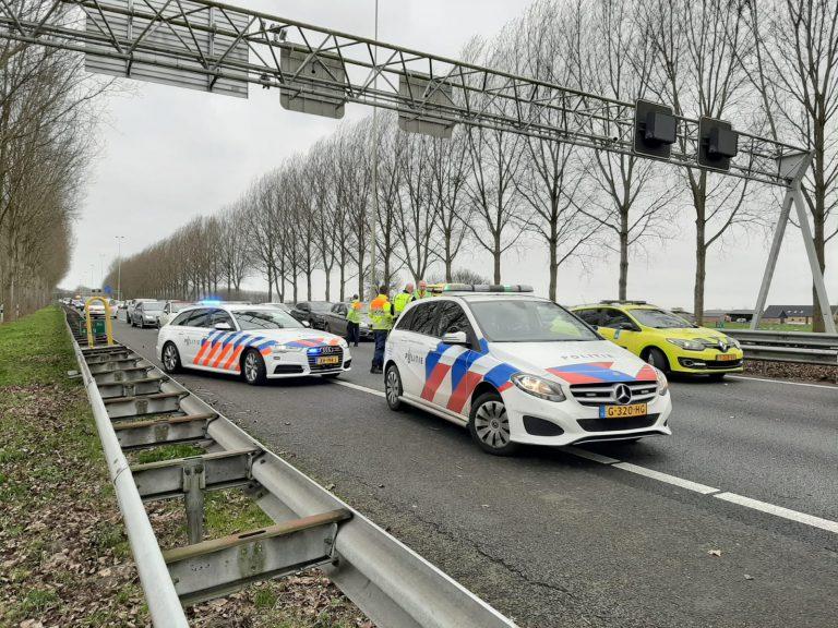 A20 tussen Nieuwerkerk en Moordrecht dicht door ongeval
