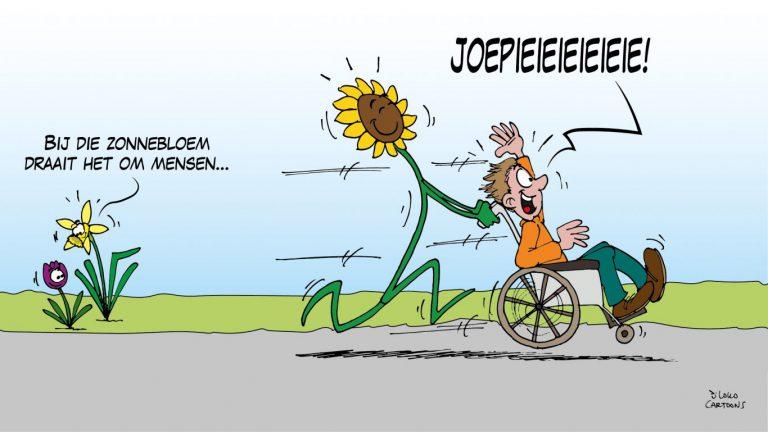 Zonnebloem Nieuwerkerk verrast met cartoon