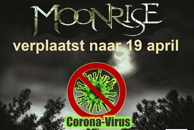 Moonrise concert ProgFrog uitgesteld door Corona virus