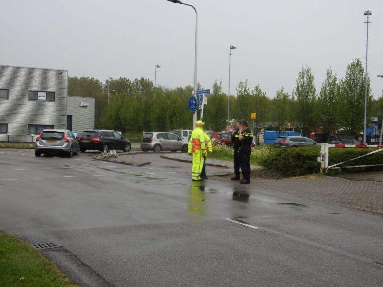 Weer verkeersregelaar aangereden bij afvalbrengstation in Nieuwerkerk aan den IJssel