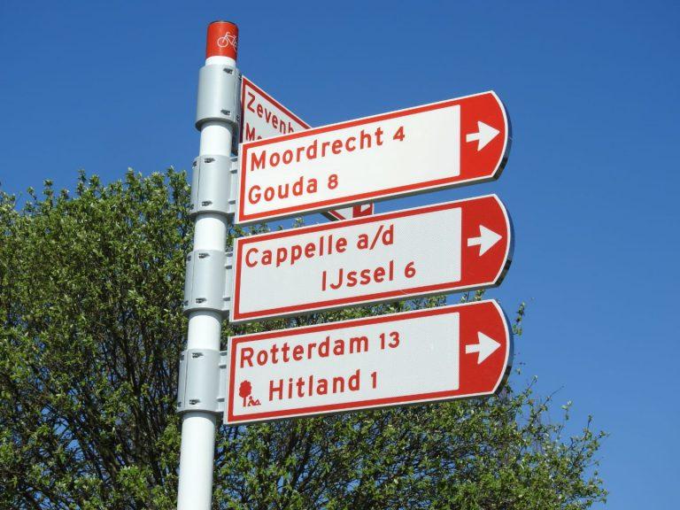 Fout met plaatsnamen op fietsbewegwijzering wordt snel hersteld