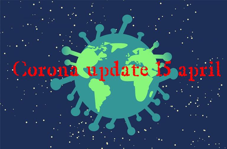 Corona update 15 april : Stabiele cijfers, draaiorgel, vlag, stoeptekening