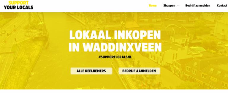 Lokale bedrijven Waddinxveen gezamenlijk op website Wadlokaal