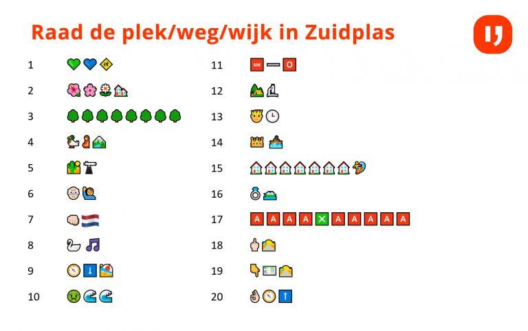 Uitslag van de Emoji puzzel