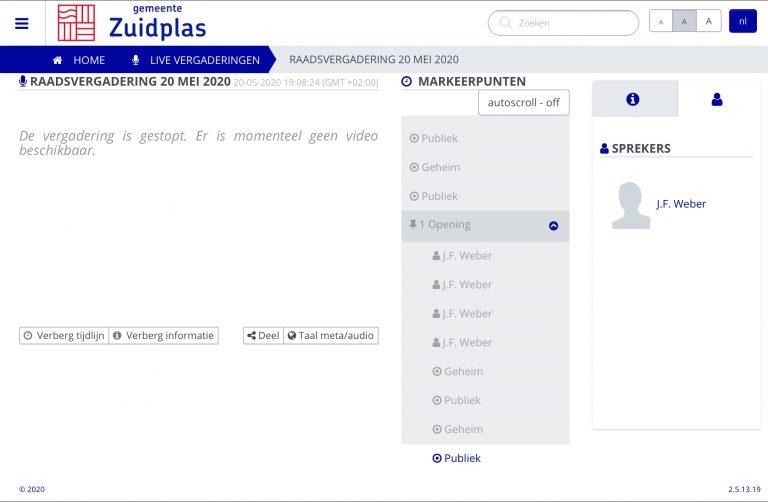 De eerste RaadZuidplas (bijna) on-line 😉