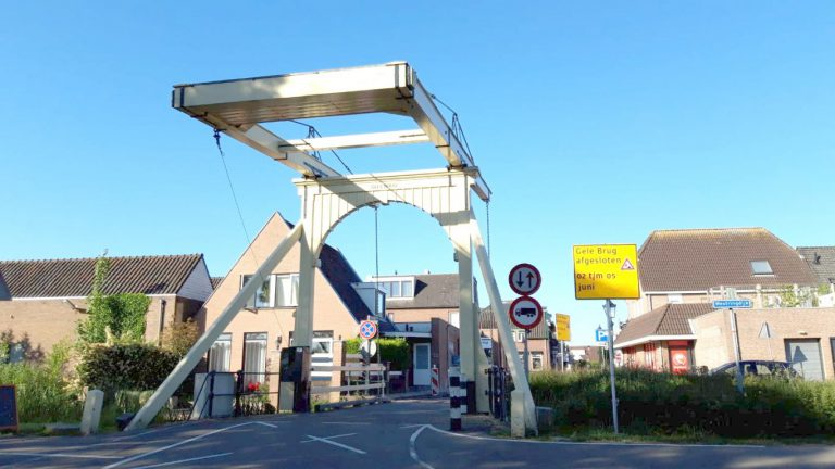 Gele brug van 2 tot en met 5 juni afgesloten