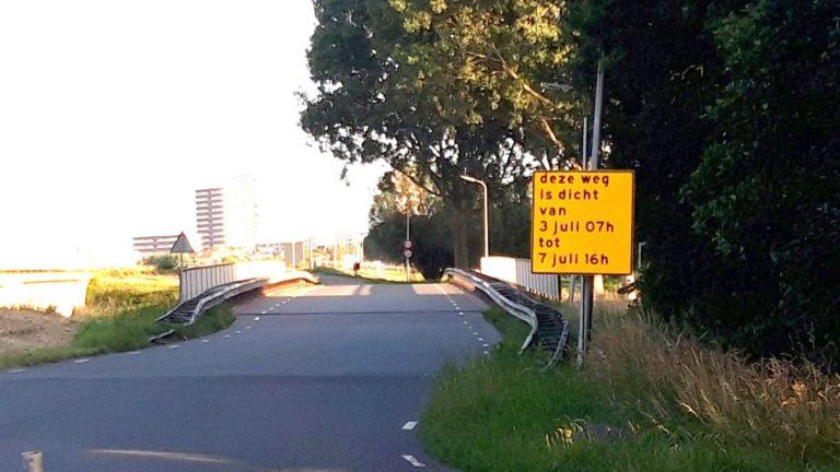 Viaduct Westringdijk over de A20 vanaf 3 juli aantal dagen afgesloten