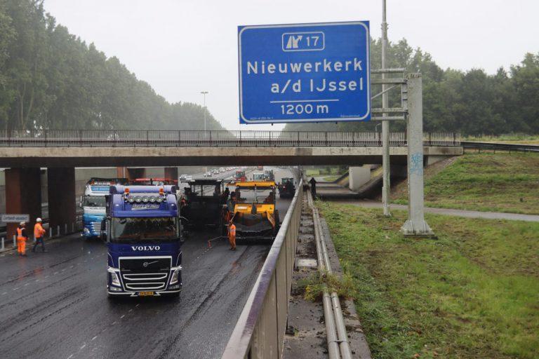 A20 dit weekend weer afgesloten richting Gouda