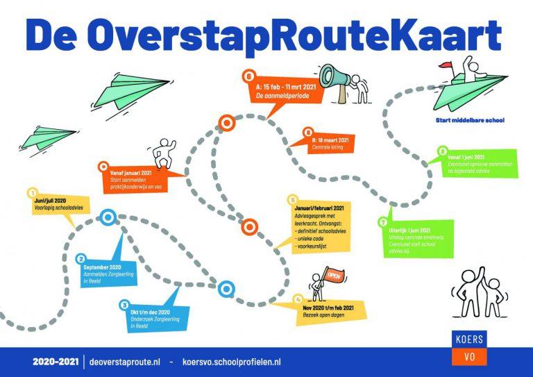 De OverstapRoute naar een middelbare school in Rotterdam, Capelle of Zuidplas