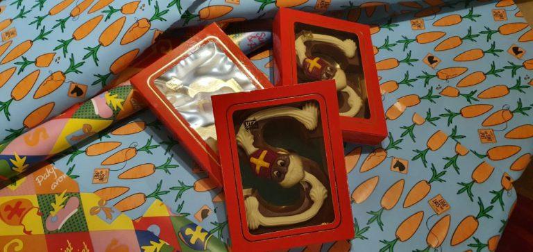 Chocoladeletters-actie de Zonnebloem met de Lions