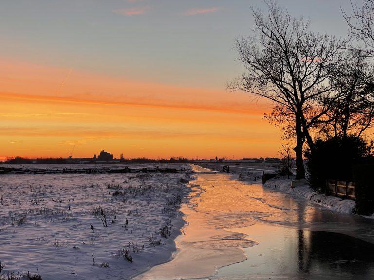 Hitland voor zonsopkomst