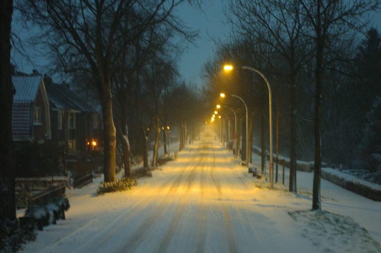 Middelweg Moordrecht in de sneeuw 7 februari 2021