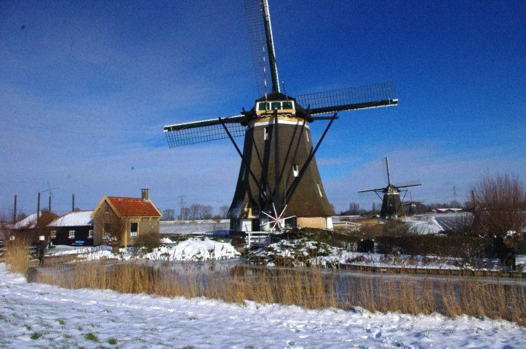 Winterlandschap Molenviergang Zevenhuizen