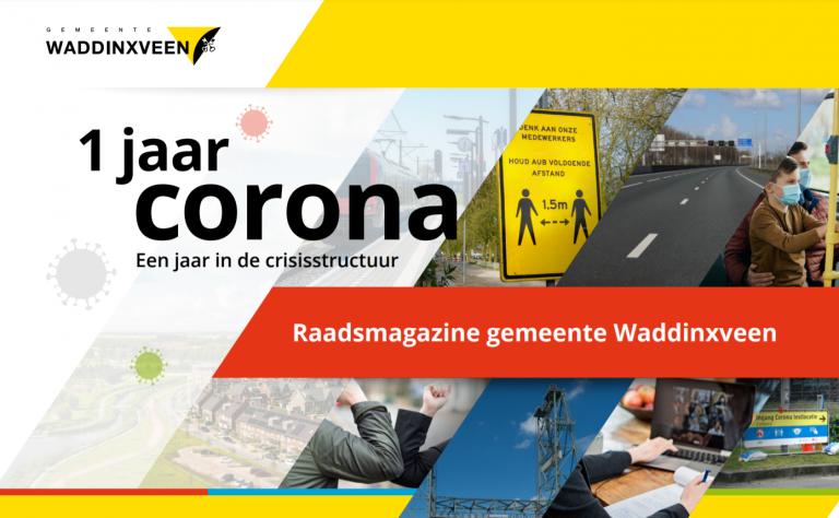 Burgemeester Waddinxveen blikt in raadsmagazine terug op 1 jaar corona