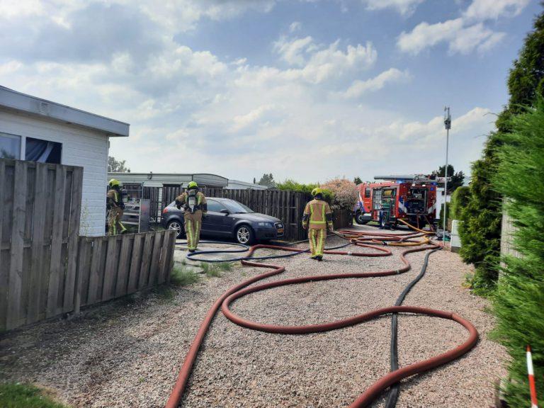 """Grote brand """"Recreatiepark"""" de Randstad Moerkapelle"""