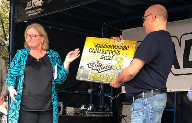Dick-Jan Thuis krijgt de Cultuurprijs Waddinxveen